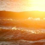 stormy sea - yellow
